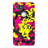 Camo-Pink-Yellow-phone-case-Google-Pixel Blast Case PRO For Google Pixel 2 XL