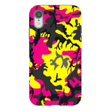 Camo-Pink-Yellow-phone-case-IPhone Blast Case PRO For iPhone XR