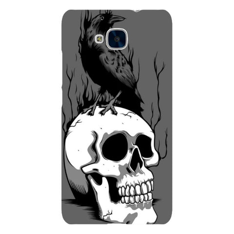 Raven-on-a-skull-Illustration-phone-case-Huawei Blast Case LITE For Huawei Honor 5C