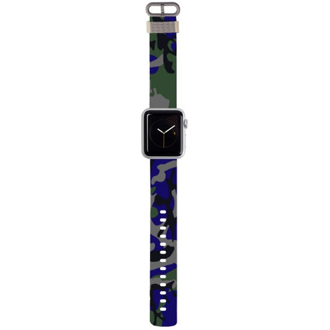 WATCH STRAP - CAMO - blue for apple watch 38 mm in Nylon