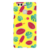 Summer-pattern-Yellow-phone-case-Huawei Blast Case LITE For Huawei P9