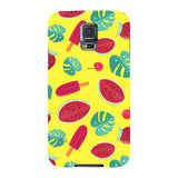 Summer-pattern-Yellow-phone-case-Samsung Blast Case LITE For Samsung Galaxy S5