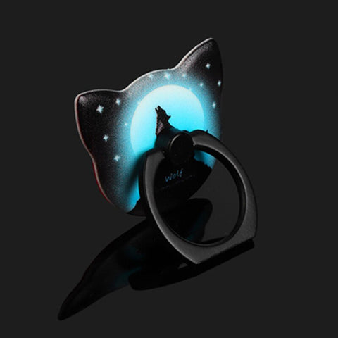 Phone Frip Ring - glowing cat-shaped