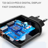 Dual Port Charger   3.0V Quick Charge Technology USB & USB-C