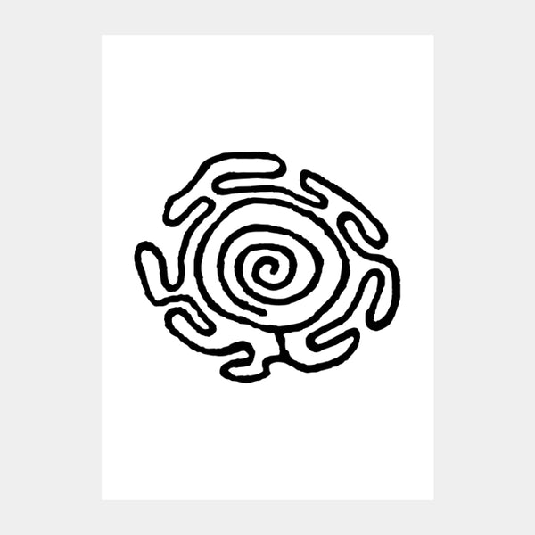 'Ancient Spiral' Poster