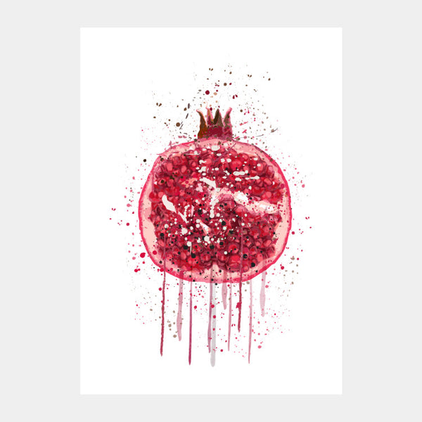 'Pomegranate Splash' Poster