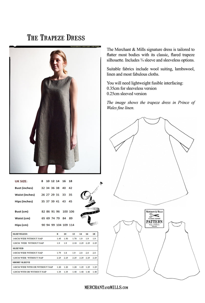 Merchant & Mills trapeze dress pattern