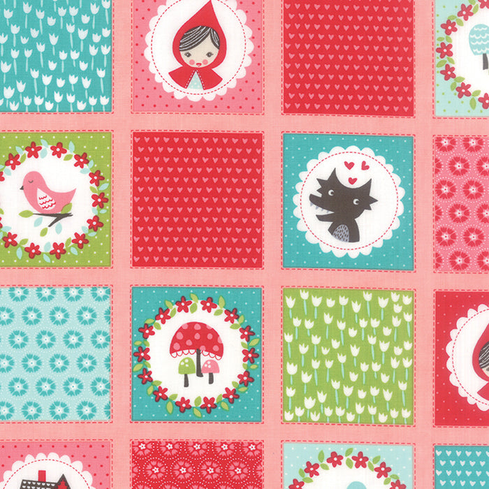 lil red novelty patchwork pink