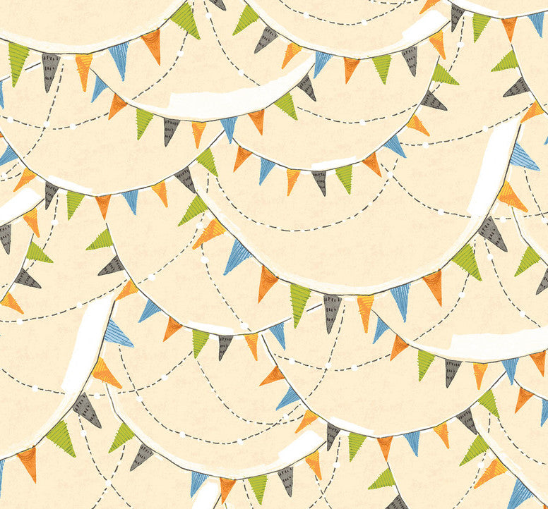 spooky town halloween bunting ivory