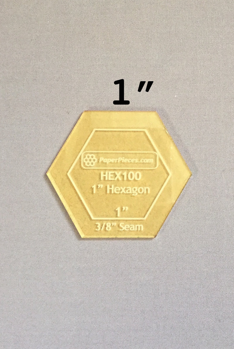 1-in Hexagon Acrylic Template
