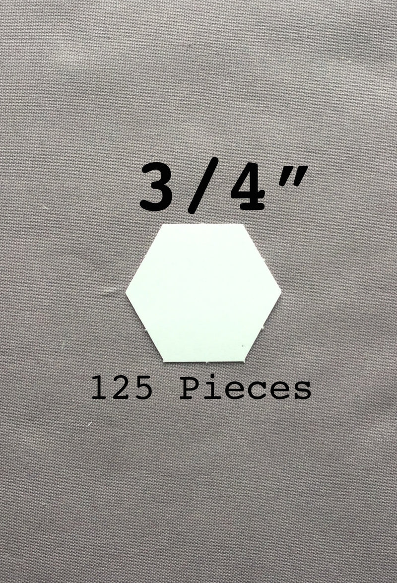3/4 Hexagon Paper Pieces 125 Count