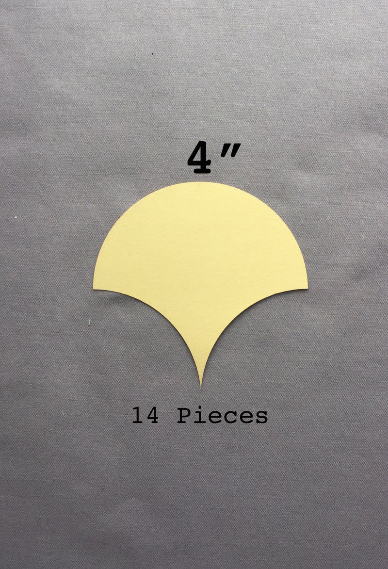 4-in Clamshell Paper Pieces 14 count