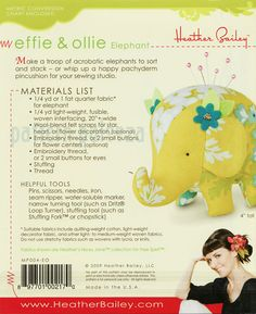 Effie & Ollie Elephant Pattern