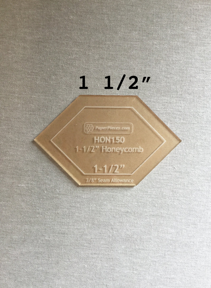 1 1/2-in honeycomb acrylic template