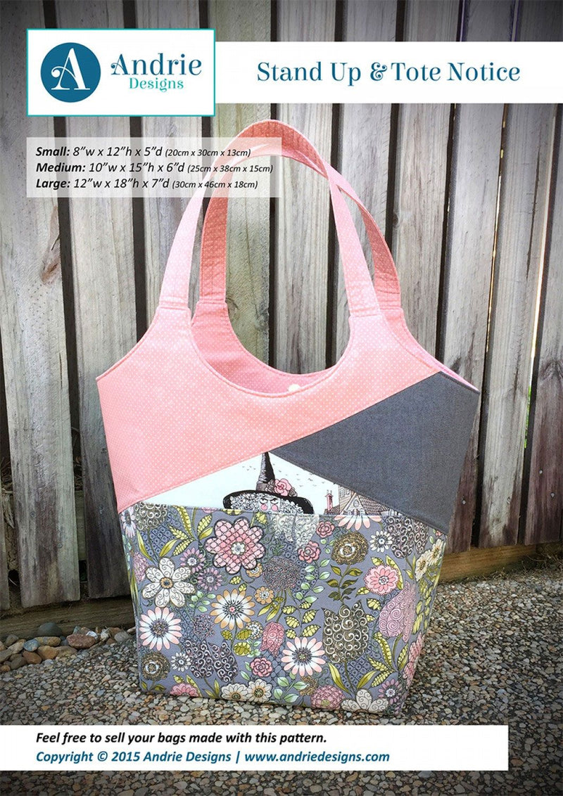 Stand Up & Tote Notice Pattern