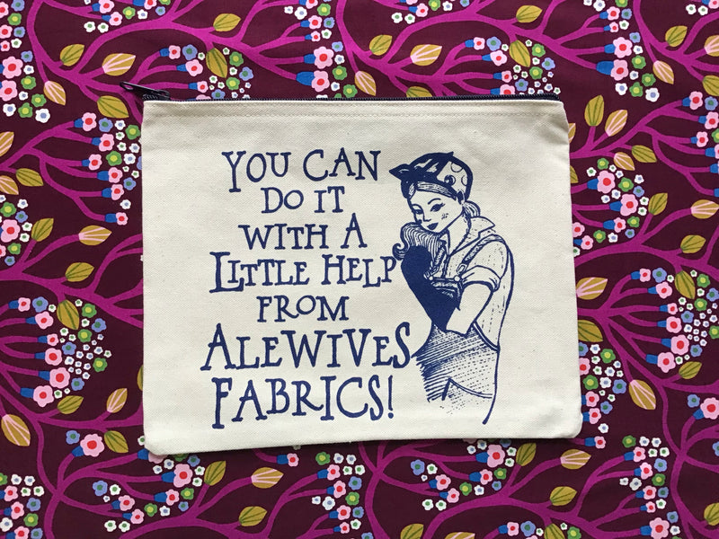 Alewives Fabrics <i>You Can Do It</i> Zippered Pouch