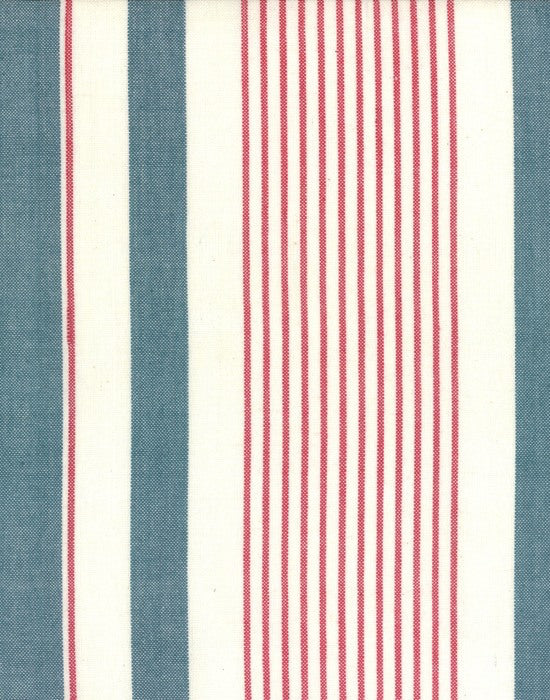 Picnic Point Tea Red Blue Toweling