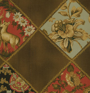 french patchwork quilt brown
