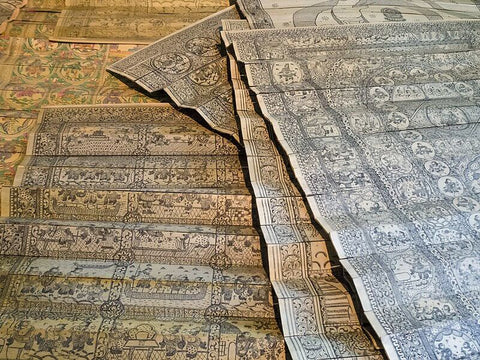 This Village in Orissa is Telling Stories Through Pattachitra Art Based Sarees and Tamarind