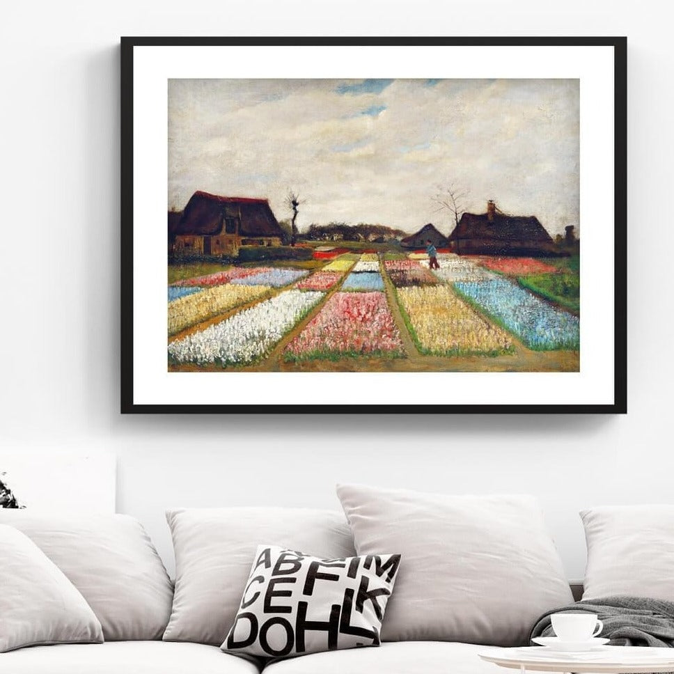 Flower Beds in Holland Vincent Van Gogh Painting 1