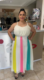 Maxi Mix Colors Dress
