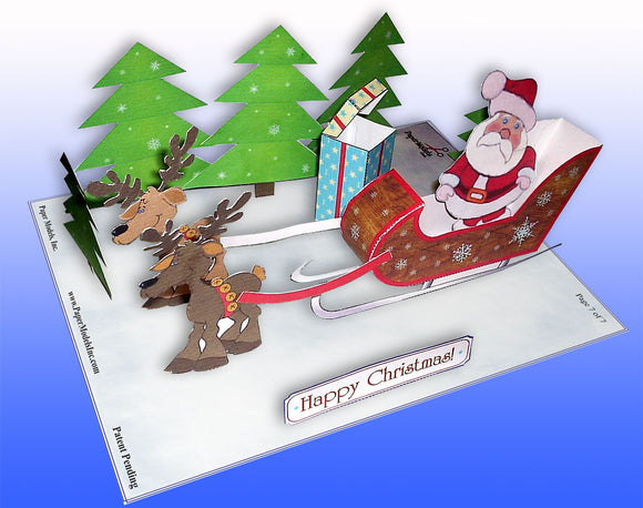 Holiday Santa And Sleigh