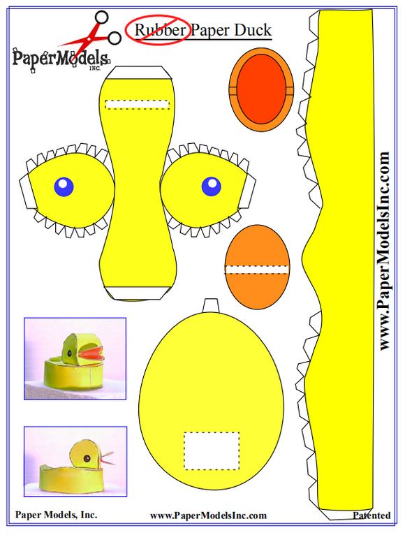 Paper Rubber Duck