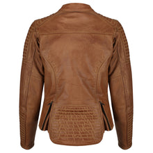 Load image into Gallery viewer, Valerie Camel Leather Jacket - MotoGirl Ltd