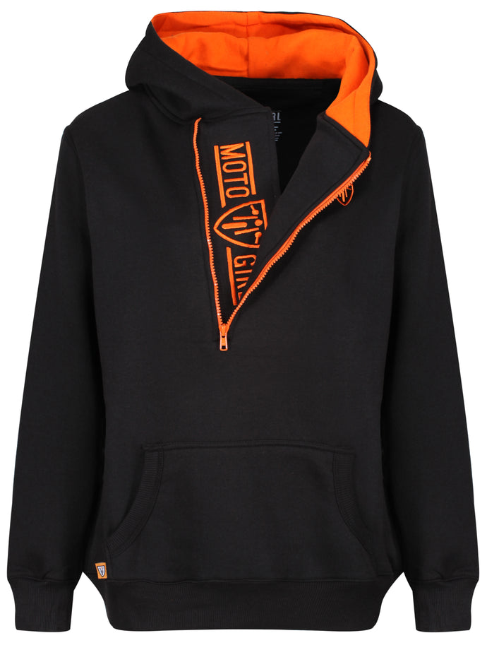 Helmet Hoodie - Black/Orange