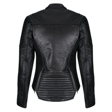 Load image into Gallery viewer, Valerie Black Leather Jacket - MotoGirl Ltd
