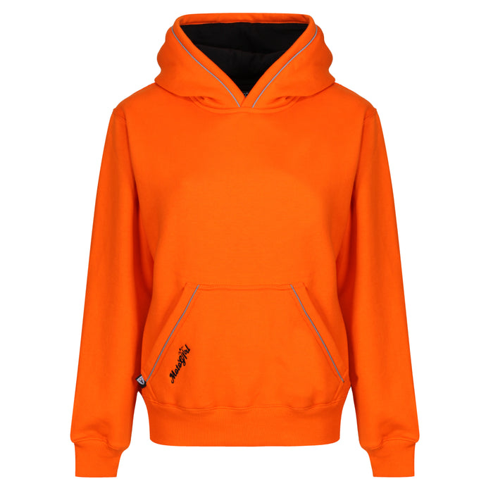 Orange Hoodie - MotoGirl Ltd