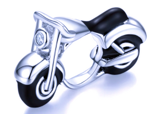 Black & Silver Motorcycle Charm