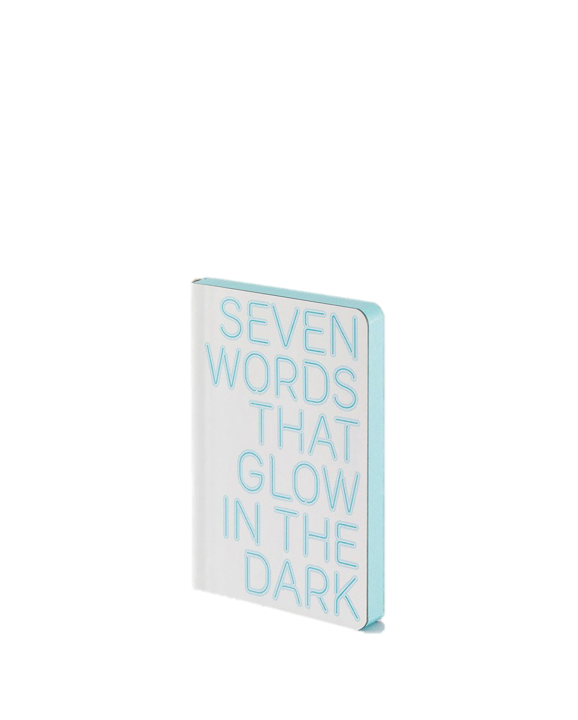 Caderno A6 7 Words That Glow in the Dark