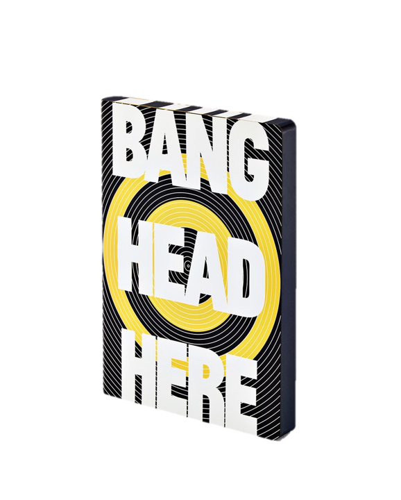Caderno A5 Bang Head Here
