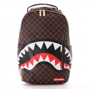 SPRAYGROUND SHARKS IN PARIS BROWN - GOLD ZIPPER