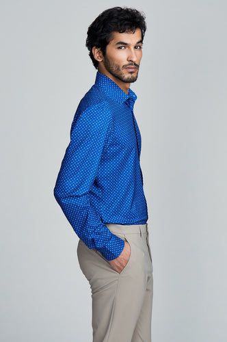Phoenix Long Sleeve Dress Shirt - Royal Signal Geo