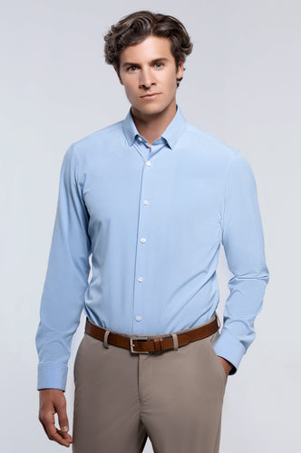 Men's Long Sleeve Dress Shirt - Light Blue