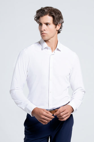 Men's Long Sleeve Dress Shirt - White