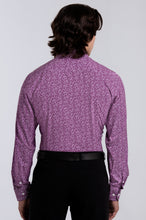 Load image into Gallery viewer, Men's Long Sleeve Dress Shirt - Plum Floral