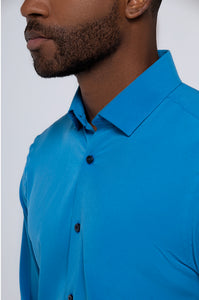 Men's Long Sleeve Dress Shirt - Royal