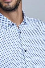 Load image into Gallery viewer, Phoenix Short Sleeve Button Up - Blue Leaf