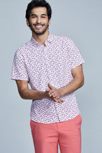Load image into Gallery viewer, Phoenix Short Sleeve Button Up - Rose Red Floral