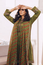Load image into Gallery viewer, Stitched 3 Piece Printed Lawn with Cotton Net Suit