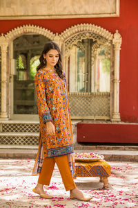 Unstitched 3 Piece Digital Printed Lawn Suit