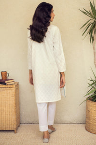 Stitched 1 Piece Embroidered White Paste Shirt