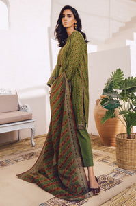 Stitched 3 Piece Printed Lawn with Cotton Net Suit