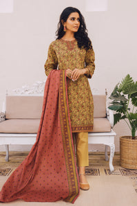 Unstitched 2 Piece Embroidered Lawn Suit with Cotton Net Dupatta