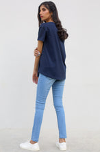Load image into Gallery viewer, Skinny Fit Jegging Pants - L/BLUE