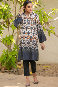 Stitched 1 Piece Printed Raw Silk Shirt