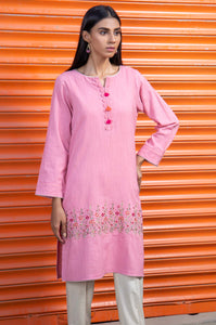 Stitched 1 Piece Embroidered Khaddar Shirt